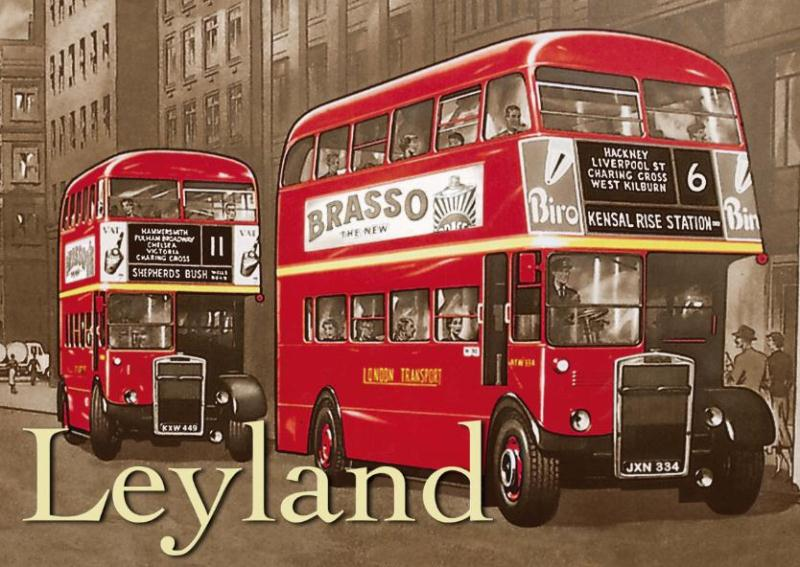 Metal Sign Red Leyland Bus Www Perfectlyboxed Com