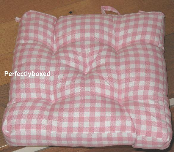 Pink Gingham Seat Pads At Www Perfectlyboxed Com