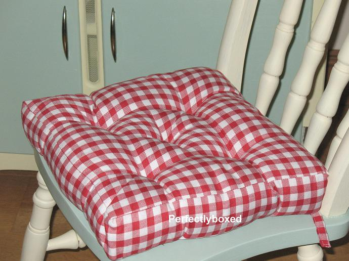 eshop malvern seat pad red gingham. Black Bedroom Furniture Sets. Home Design Ideas