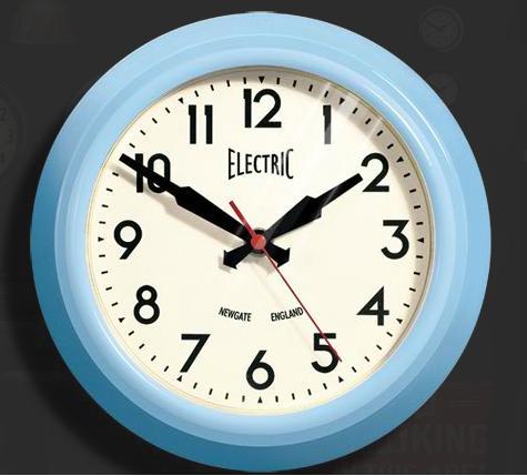 Newgate Small Electric Clock Blue Www Perfectlyboxed Com