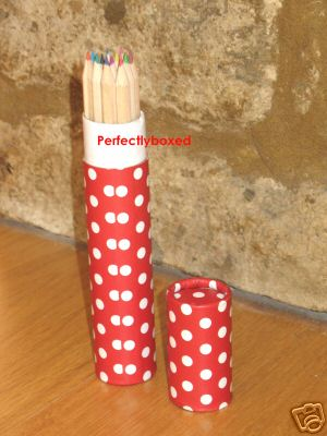 Red Polka Dot Colouring Pencils At Perfectlyboxed Com