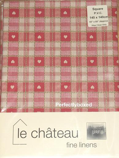 Red Hearts Oilcloth Tablecloth At Www Perfectlyboxed Com