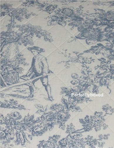 Toile De Jouy Quilts Bedspreads Blue Double Www