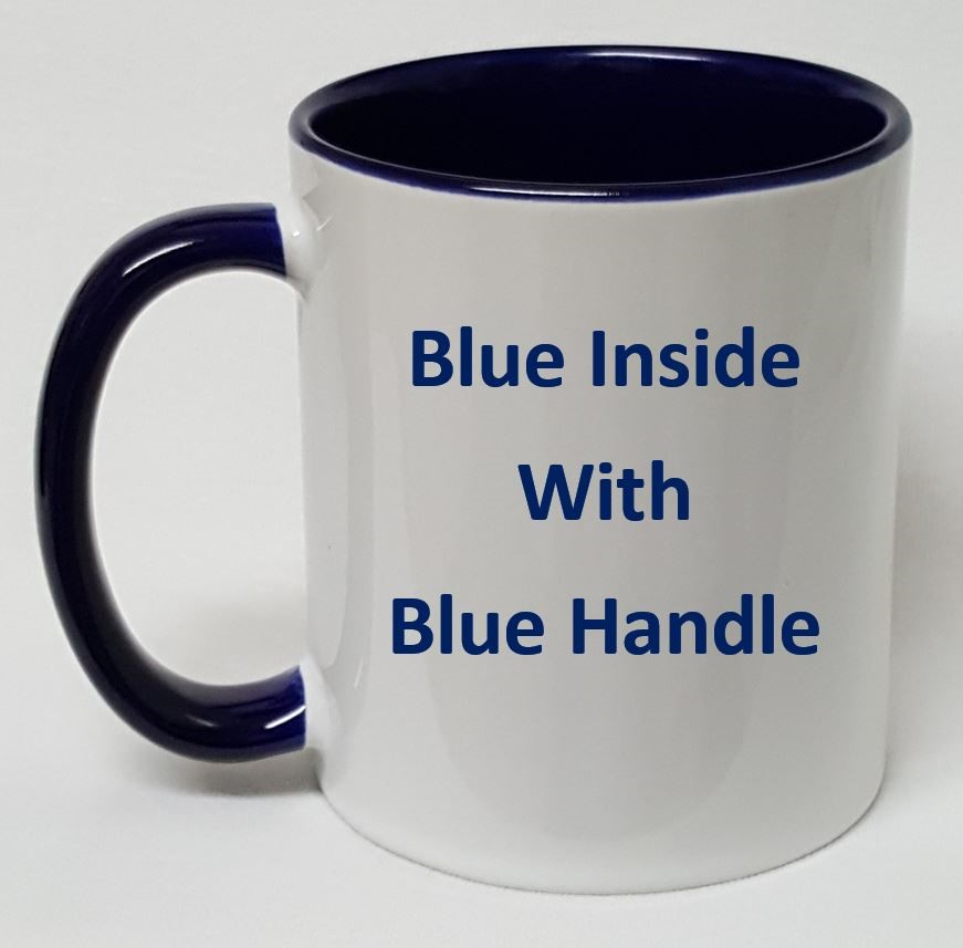 InsideCreateDesign Handleamp; Mug Blue Your Personalize Own DIE2H9