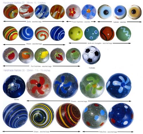10 Handmade Marbles