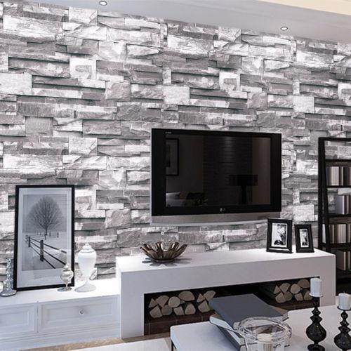 Kitchen Bathroom Black Silver Tile Effect Wallpaper