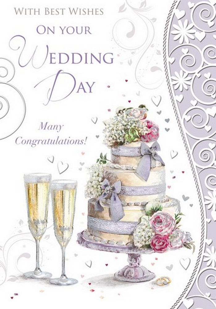 Congratulations On Your Wedding Day.With Best Wishes On Your Wedding Day