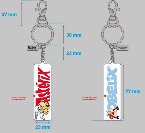 Asterix  Obelix reverable Keychain