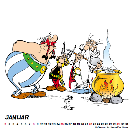 Asterix Mini Calendar German