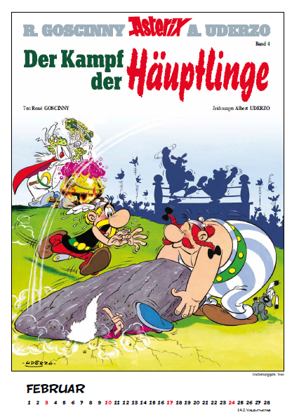 Asterix Comic Cover Calendar german