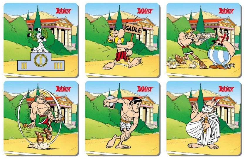 Asterix Olympic games Coaster set