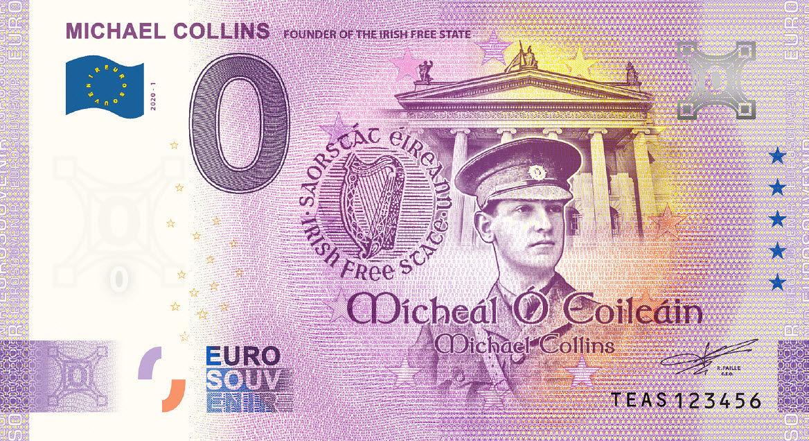 Ireland Commemorative 0 Euro Limited Edition Souvenir Banknote of Dublin