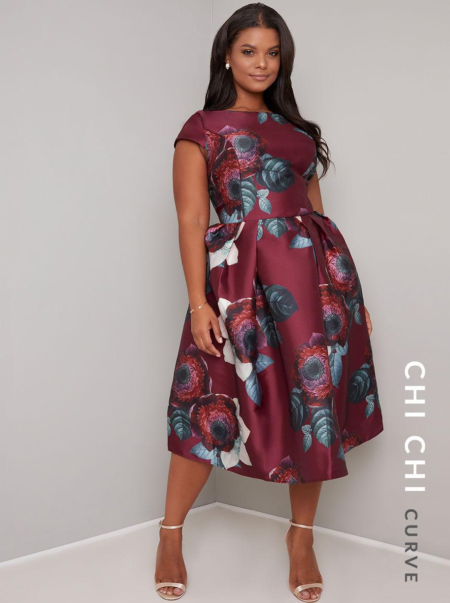 e2e50405b8d4 CHI CHI CURVE KARYA DRESS