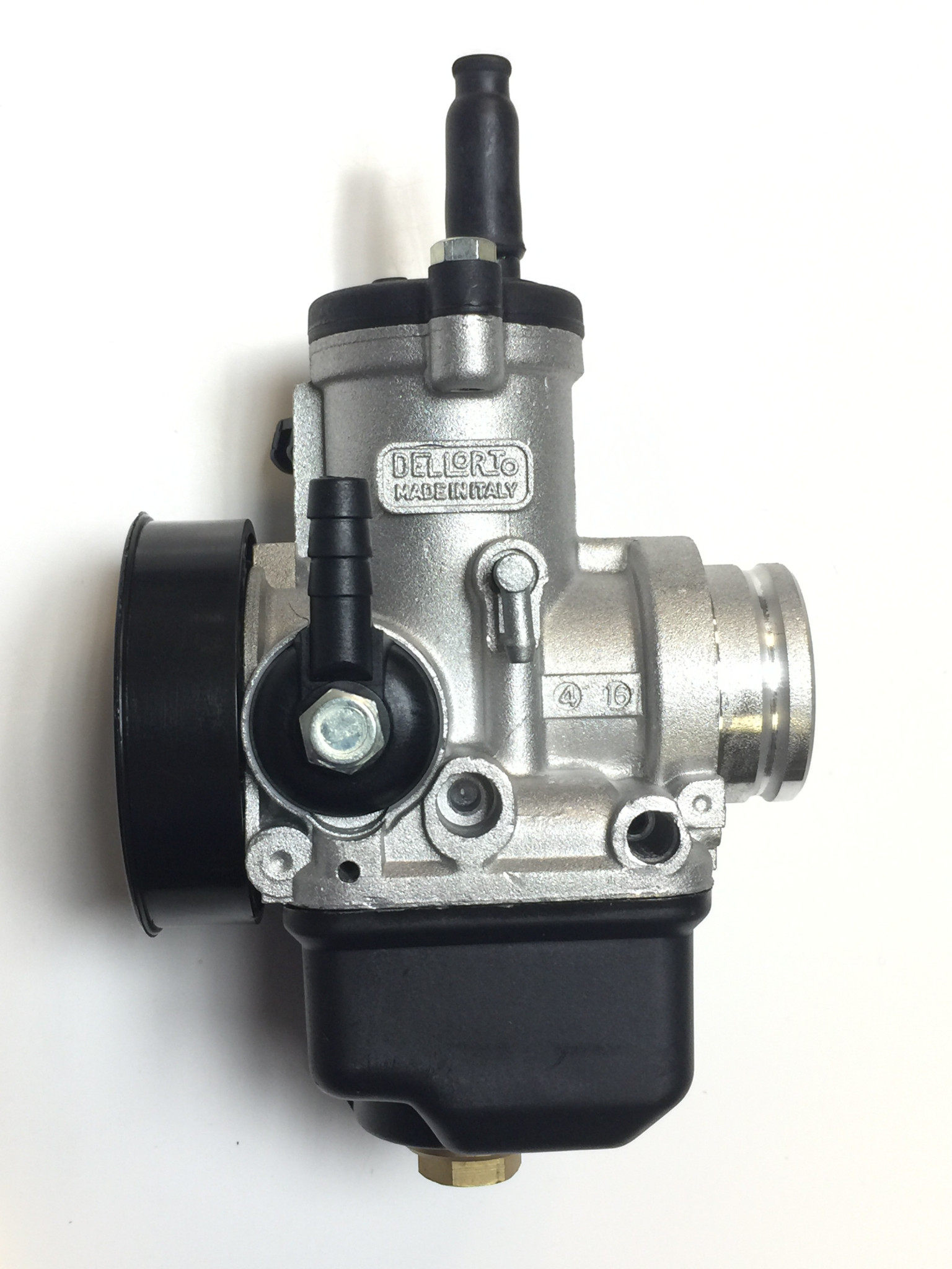 Dellorto 28mm PHBH carb with cable choke, no 3 float valve re jetted