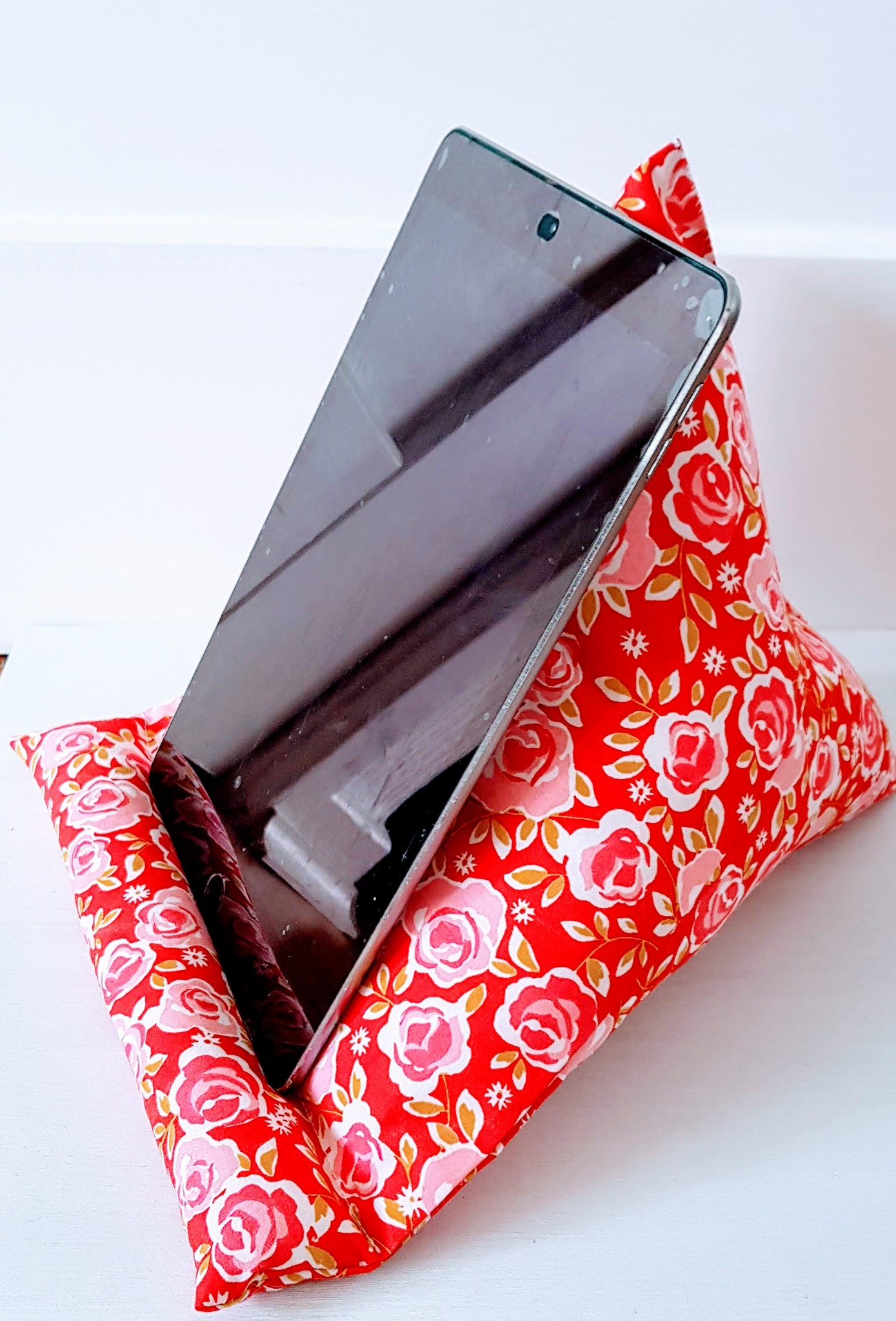 Ipad Cushion Floral Gift Tablet Stand Tech Accessories Floral Cushion Ipad Rest Gift For Her