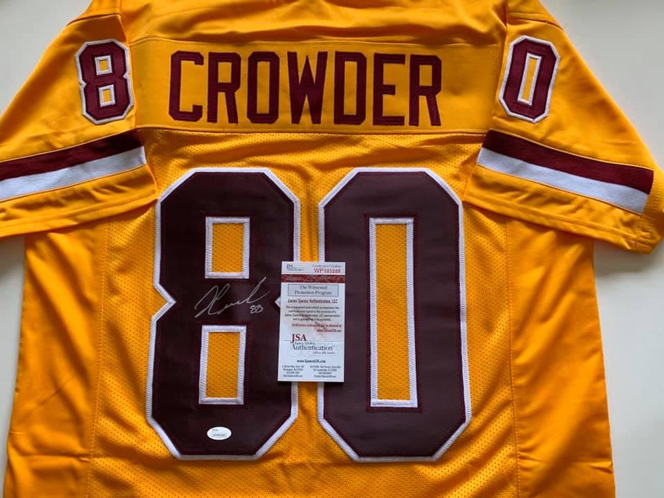 buy popular 487eb a840a Jamison Crowder autographed Washington Redskins Color Rush jersey w/ JSA COA
