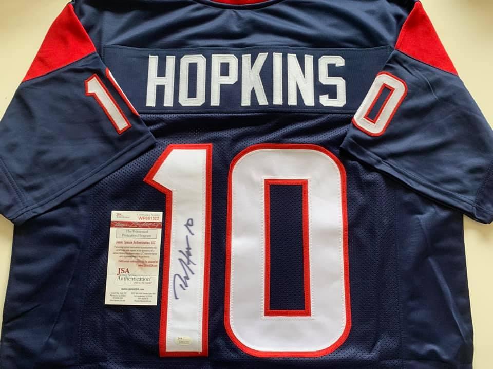 the latest b2301 b390e Deandre Hopkins autographed Houston Texans jersey w/ JSA COA