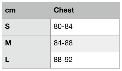 Bow Top Size Chart