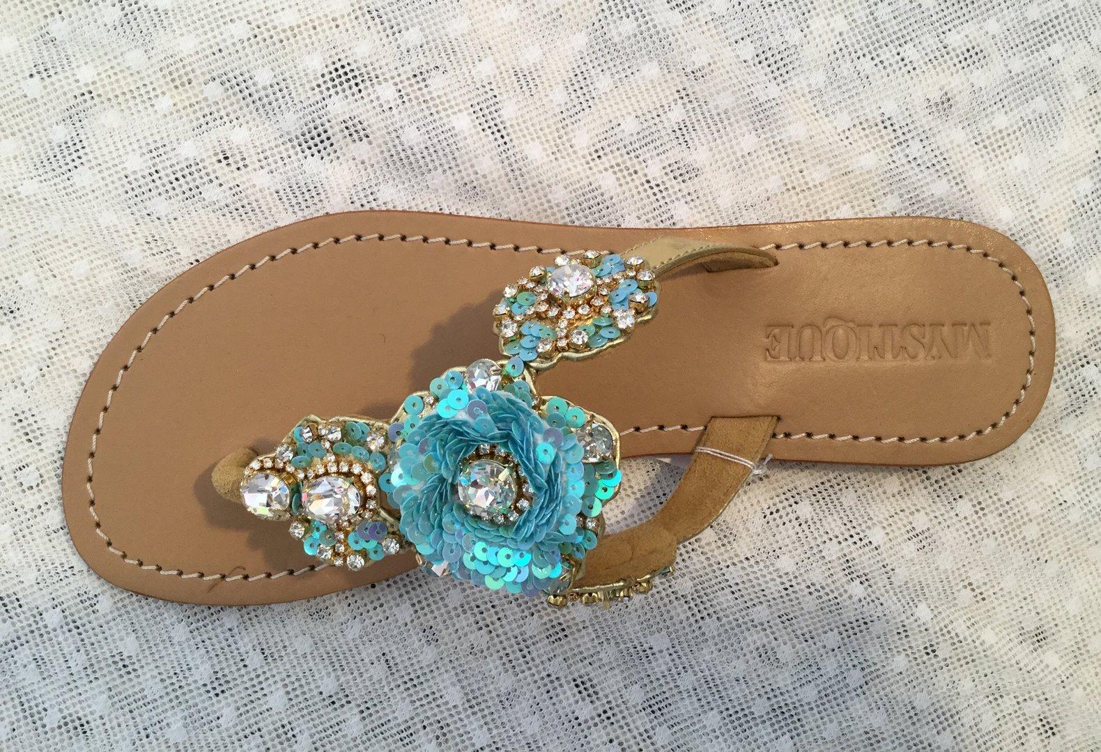 8ece64d24da9 Mystique Women s Leather Jeweled Sandals - Puerto Limon – Mystique Sandals