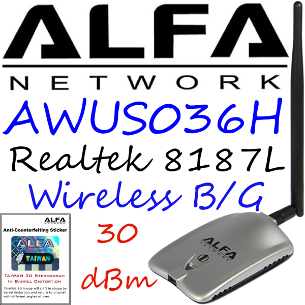 alfa network wireless usb adapter driver awus036h download