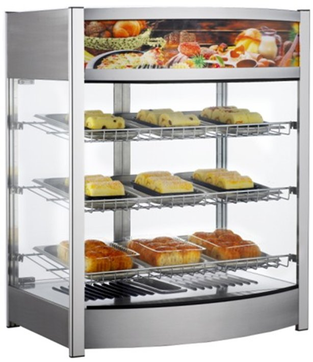 Bakery Hot Food Display Cabinets Heated Display Cases