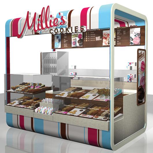Cake Kiosk Commercial Interior Design