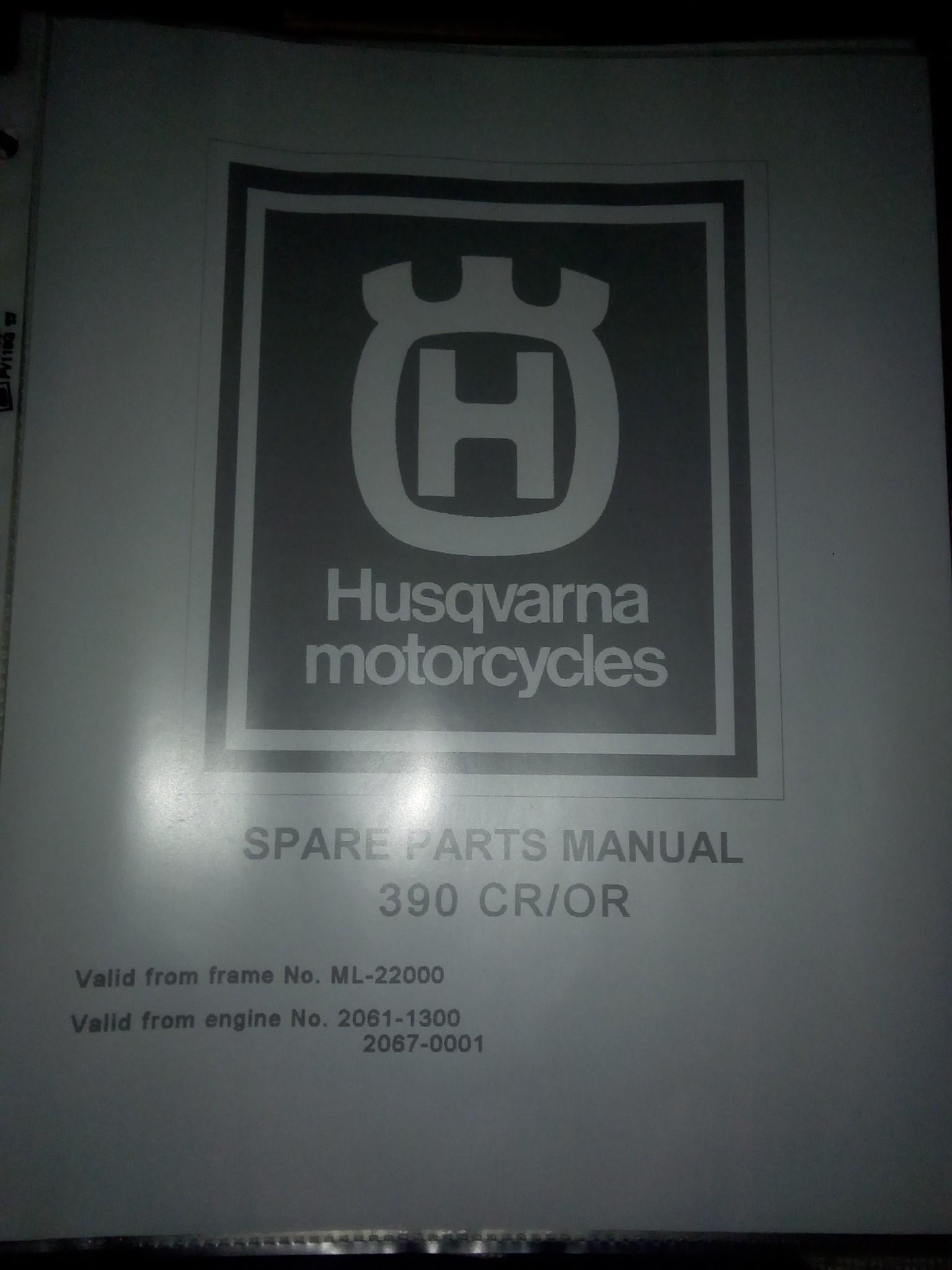 Husqvarna owners/parts/repair manual