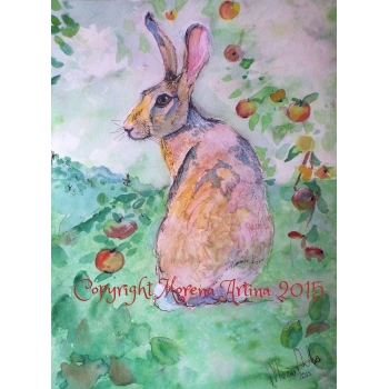 Orchard Hare Print..