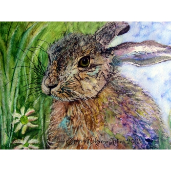Jewelled Hare Print