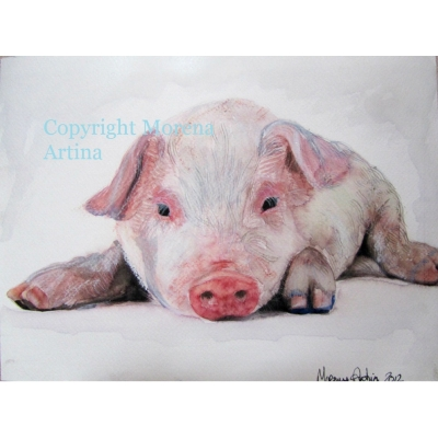 Oink Oink Pig Giclee Print