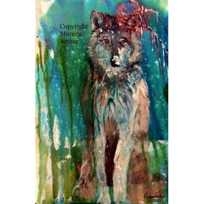 Wolf in the Snow Giclee Print