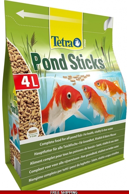 Tetra Pond Sticks 4L - Complete Fish Food For Health & Vitality