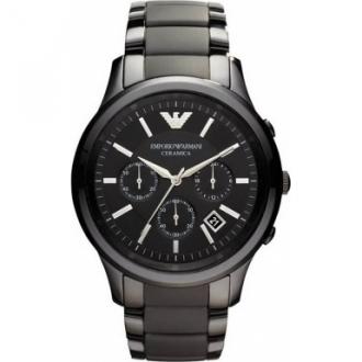 fd68e624 Armani Mens Ceramic Watch - Black Ceramic, White Ceramic watch