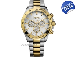 Hugo Boss 1512960 Gents Two Tone Bracelet Watch ..