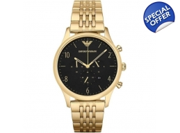 Armani AR1893 Mens Beta Gold Plated Link bracele..