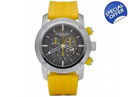 Burberry BU7712 Sport Chronograph Yellow Rubber ..