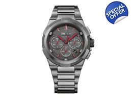 Hugo Boss 1513361 Supernova Mens Black Grey Stee..