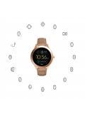 Fossil FTW6005 Q Venture Rose Gold Sand Leather Smart watch