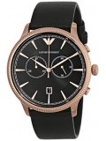 Emporio Armani AR1792 Classic Men's Black Leather Chronograph Watch