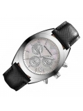 Armani Ar5961 Sportivo Silver Women's Leather Watch