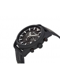 Emporio Armani AR6035 Sportivo Black Dial Leather Strap Men's Watch