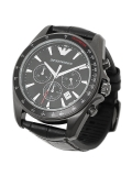 Emporio Armani AR6097 Black Silicone Quartz Men's Watch