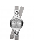 Emporio Armani AR7347 Quartz Double Wrap Silicone Women Watch