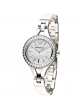 Emporio Armani AR7353 Quartz White Leather and Stainless Steel Watch