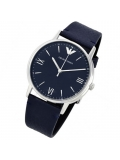 Armani AR11012 Blue Dial Ladies Blue Leather Watch