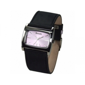Bench Ladies Lilac Dial Black Leather Strap Watch