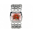 Ed Hardy EDLY-HT Ladies Lynx Heart Watch