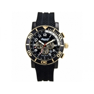 Ingersoll IN3207GBK Mens Bison Black Dial and Rubber Strap Watch