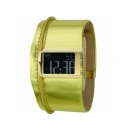 Diesel DZ7104 Mens Gold Leather Strap ..