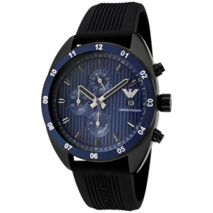 Emporio Armani AR5930 Mens Sports Luxe Blue Black Watch